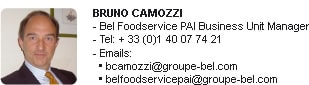 Bruno Camozzi, Bel Foodservice PAI Business Unit Manager
